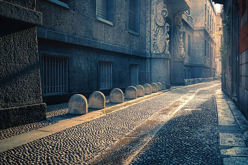 Alley, Road, Passage, Building, Houses, Paving Stones