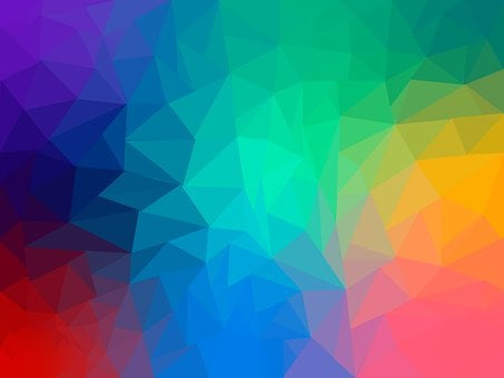Triangles, Polygon, Pattern, Rainbow, Geometrical