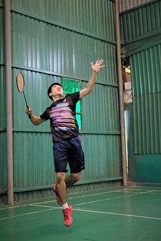 Badminton, Man, Play, Racket, Sport, Leisure, Movement