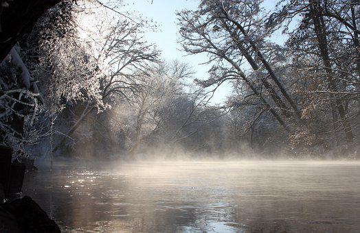 River Landscape, Winter, Nature, River, Water, Idyll