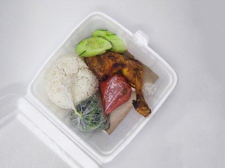 Chicken Salad, Food, Box, Chicken Chilli, Sauce