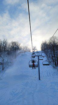 Ski Lift, Cable Car, Chair, Ascent, Mountain