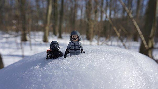Lego, Starwars, Toys, Snow, Forest, Creative