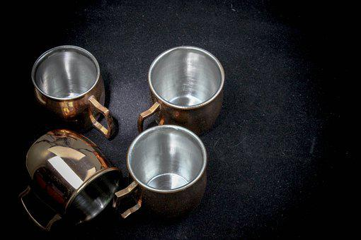 Mule Shot Glass, Copper, Shot Glasses, Liquor, Tonic