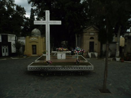 Cross, Cementery, Grave, Trees, Old, Graveyard