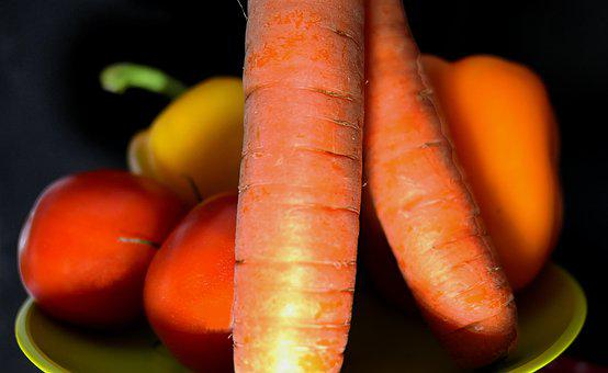 Vegetables, Carrots, Tomatoes, Paprika, Healthy