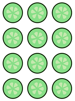 Background, White, Cucumber, Green, Pattern, Simple
