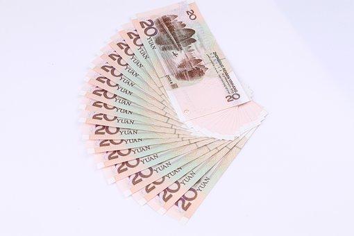 20 Yuan, Renminbi, A Fan Yuan, ¥, Money