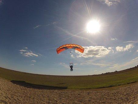 Landing, Royan Parachute, Sailing, Jump, Aircraft