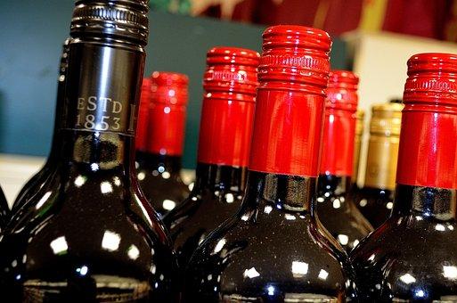 Bottles, Wine, Beverage, Background, Red, White