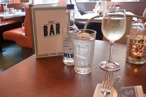 Restaurant, Beverage List, Water Glass, Bottle