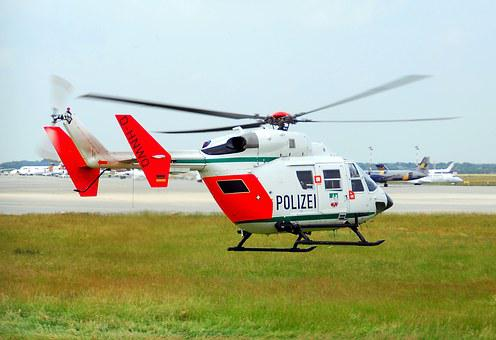 Police Helicopter, Bk-117, Police, Helicopter