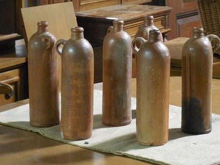 Vintage, Bottles, Glass, Old, Design, Retro, Drink