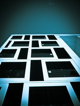 Architecture, Modern, Building, Skyscraper, Bluish