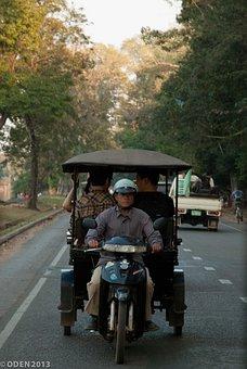 Tuk Tuk, Rickshaw, Cambodia, Transport, Road, Traffic