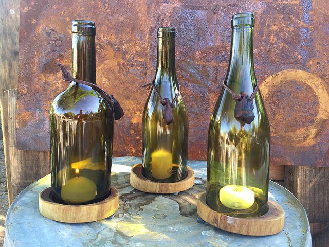 Wine Bottle, Candle Holder, Candle, Decor, Design