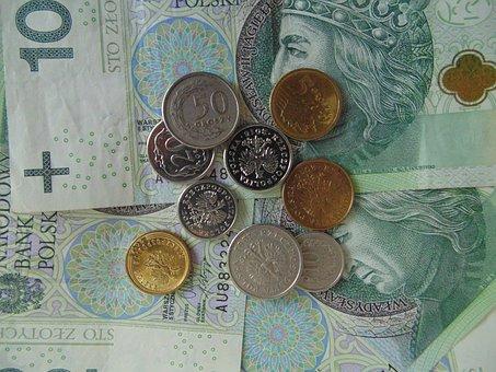 Money, Banknotes, Coins, Polish, Pln, Cash, Poland
