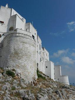 Castle, Puglia, Italia, Monument, White