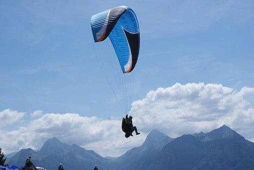 Paragliding, Cloud, The Forclaz