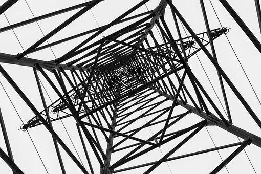 Current, Strommast, Power Line, Power Poles
