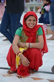 India, Woman, Costume, Traditional, Temple, Sikh, Dehli