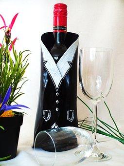 Wine, Bottle Holder, Wine Glasses, Give A, Dinner
