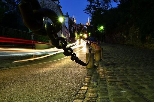 Montmartre, Night, Paris, France, Europe, Architecture