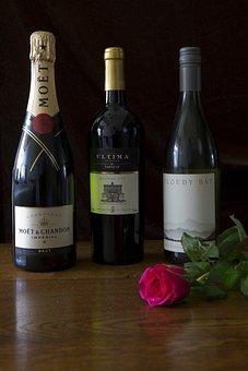 Three Bottles Of Wine, French, Italian, New Zealand