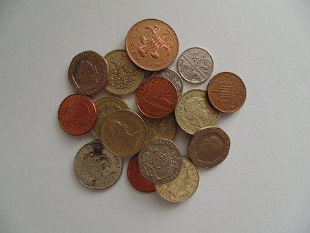 Coins, Money, British, Pounds, Gbp