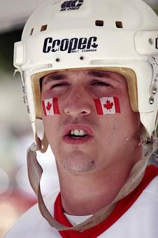 Canada Day, Canadian, Helmet, Face Paint, Celebration