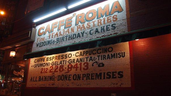 New York, Little Italy, Advertising, Usa
