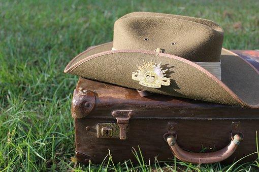Australia, Army, Anzac, Memorial, Military, Khaki, Hat