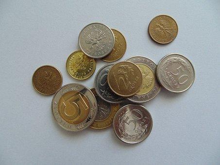 Money, Polish, Coins, Poland, Cash, Zloty, Blue Money