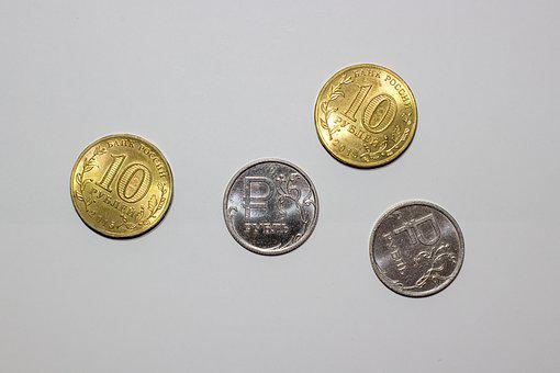 Ruble, Money, Coins, Russian, Crisis, Currency