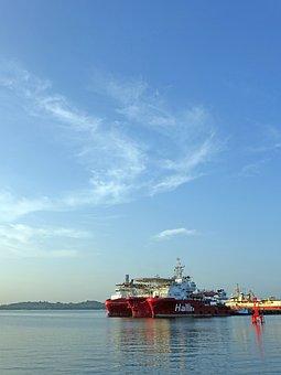 Vessel, Sea, Off-shore, Water, Ship, Transportation