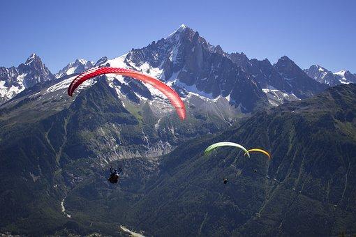 Paragliding, Mountains, Sport, Parachute, Paraglider