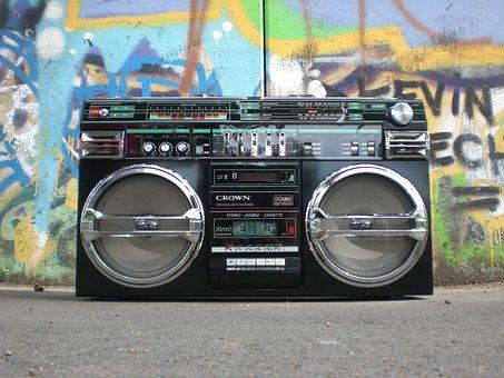 Ghettoblaster, Radio Recorder, Boombox, Old School