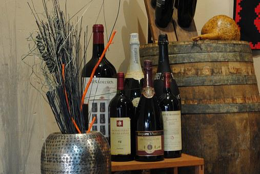 Bottles, Wine, Ager, Restaurant, Lopoble