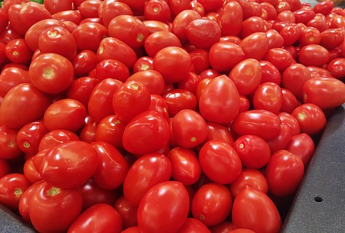 Tomatoes, Roma Tomatoes, Food, Grocery, Red, Vegetables