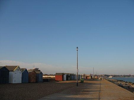 England, Coast, Sea, Promenade By The Sea