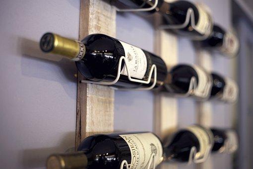 Wine Rack, Shelf, Wine, Beverages, Bottles