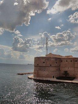 Sea, Porto, Summer, Sky, Italy, Puglia, Taranto, Castle