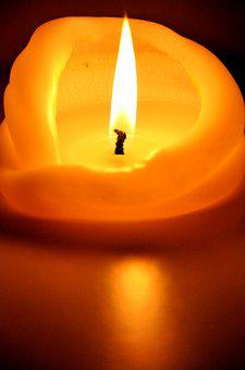 Candle, Glow, Flame, Spiritual, Yellow, Orange, Brown