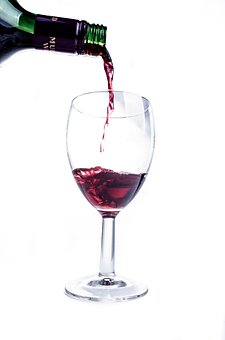 Wine, Red, Glass, Splashing, Splash, Wineglass