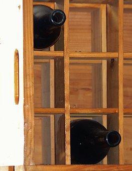 Wooden Box, Wine, Wine Rack, Glass Bottle, Storage