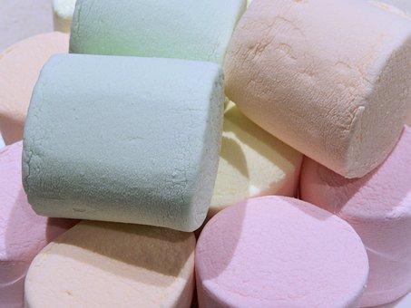 Marshmallows, Jumbo, Fruit Flavor, Sweet, Food