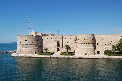 Puglia, Taranto, Castle, Sea