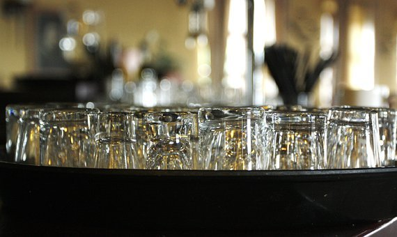 Bar, Tavern, Blat, Wine Glasses, Transparent, Porcelain