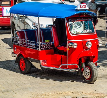 Tuk Tuk, Taxi, Thailand