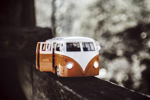 Car, Vehicle, Bus, Travel, Bokeh, Toy, Transportation